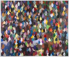 """Brenna Youngblood """"Democratic Forest"""", 2014 Mixed media on canvas 60 x 72 x 2-1/2 inches"""