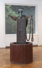 """John Outterbridge """"In Search of the Missing Mule"""", 1993  Mixed media  85-1/2 x 44-1/2 x 36 inches"""
