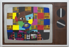 """Derrick Adams """"Pilot #2"""", 2014 Mixed media collage on paper and mounted on archival museum board 48 x 72 inches"""
