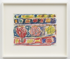 Stanley Whitney  Untitled, 1991  Water-soluble crayon on paper  9-3/4 x 12-1/2 inches