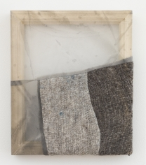 """Martha Tuttle """"Nose-to-nose (5)"""", 2018 Wool, silk, pigment 12 x 10 inches"""