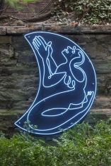 "Antone Könst ""Praying Woman"", 2018  Neon mounted on panel  44 x 34 inches"