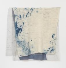 "Martha Tuttle ""Shelter"", 2018 Wool, silk, pigment, dye 53 x 52-1/2 inches"