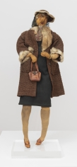 """John Outterbridge """"Sister Mamie, Ethnic Heritage Series"""", c. 1971  Mixed media  30 x 10 x 6-3/4 inches"""