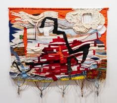 Terri Friedman  Stay Astonished, 2018  Wool, cotton, acrylic, metallic fibers  62 x 67 inches