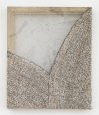Martha Tuttle Like water I have no skin (14), 2018 Wool, silk, pigment 12 x 10 inches