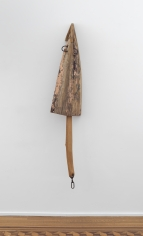 """John Outterbridge """"Sacred Hymns & Broken Tongues"""", 1996  Wood and mixed media sculpture  74-1/2 x 14-1/2 x 12-1/4 inches"""