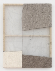 """Martha Tuttle """"Scattered clouds"""", 2018 Wool, silk, pigment 42 x 32 inches"""