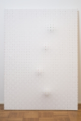 "Jarbas Lopes ""Untitled"", 2013 Rubber balls in woven elastic on wooden frames ​87-1/2 x 63 x 6 inches"