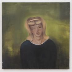 "Nicole Eisenman ""Swamp Girl"", 1992  Oil on canvas  47-3/4 x 47-3/4 inches"