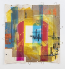 """Tomashi Jackson  """"Heiresses (The Central Park Plan)"""", 2019  Acrylic, oil, silkscreen, image transfer on paper and canvas with digital prints on vinyl  81-1/4 x 79 inches"""
