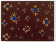 "Fred Tomaselli ""Wow and Flutter"", 1992 Acrylic, leaves, and resin on panel 36 x 48 inches"