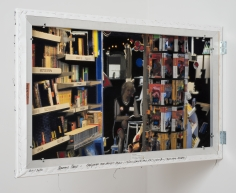 Berend Strik Decipher the Artist's Mind: Coincidence and Decision (Moscow Bookstore), 2014 Stitched c-print on tyvek 41 x 26 inches Recto Installation View