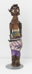 """John Outterbridge """"Untitled, Ethnic Heritage Series"""", 1974-75  Mixed media  24 x 5-1/4 x 4-1/4 inches"""
