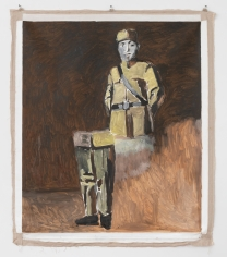 """Gang Zhao, """"Soldier After War"""", 2006, oil on canvas, 61 x 57 inches."""