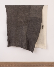 "Martha Tuttle ""Vertebrae"", 2018 Wool, silk, steel 64-1/2 x 58-1/2 inches"