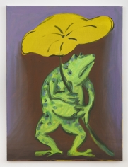 "Antone Könst ""Frog (study)"", 2019  Oil and acrylic on canvas  24 x 18 inches"