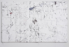 """Berend Strik """"Decipher the Artist's Mind: Coincidence and Decision (Moscow Bookstore)"""", 2014 Stitched c-print on tyvek 41 x 26 inches"""