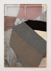 Image of an artwork by Martha Tuttle made in 2021 that is 72 inches by 48 inches in size and consists of wool, silk, dye, graphite, and pigment.
