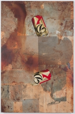 "Brenna Youngblood ""DKNY (Classic)"", 2014 Mixed media on wood panel 72 x 47-1/2 x 1-3/4 inches"