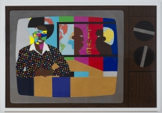 """Derrick Adams """"That's News To Me"""", 2014 Mixed media collage on paper and mounted on archival museum board 48 x 72 inches"""