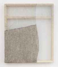 "Martha Tuttle ""Stone (5)"", 2018 Wool, silk, pigment 30 x 25 inches"