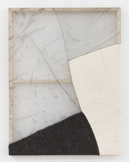 """Martha Tuttle """"Don't go anywhere"""", 2018 Wool, silk, pigment 42 x 32 inches"""