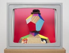 """Derrick Adams """"Boxhead #1"""", 2014 Mixed media 23 x 28 x 19 inches"""