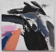 "Ed Clark ""Winter Bitch"", 1959 Acrylic on canvas 77 x 77 inches"