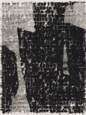 "Glenn Ligon ""Mirror II Drawing #19"", 2010 Oil stick and coal dust on paper 25 x 17-5/8 inches"