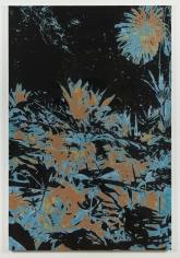 "Luca Dellaverson ""Tony Montana's House"", 2017 Oil, epoxy, and inkjet on canvas 72 x 48 inches"