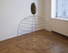 "Simone Leigh ""Cowrie (Pannier)"", 2015 Terra cotta, porcelain, and steel 58 x 54 x 32 inches"