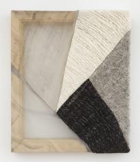 """Martha Tuttle """"Sierra Negra (3)"""", 2018 Wool, silk, pigment 12 x 10 inches"""