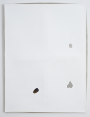 "Luca Dellaverson ""Untitled"", 2013 Gesso on epoxy resin and mirrored glass with wood support 40 x 30 inches"