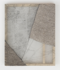 "Martha Tuttle ""Stone (4)"", 2018 Wool, silk, pigment 30 x 25 inches"