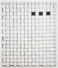 "Jarbas Lopes ""Untitled"", 2013 Ink on woven elastic on wooden frame ​72 x 60 x 1-3/4 inches"
