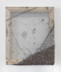 """Martha Tuttle """"Nose-to-nose (4)"""", 2018 Wool, silk, pigment 12 x 10 inches"""