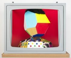 """Derrick Adams """"Boxhead #5"""", 2014 Mixed media 23 x 28 x 19 inches"""