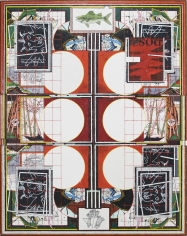 """Zachary Armstrong """"Six Circles"""", 2018 Encaustic and oil on canvas 96 x 76 inches"""