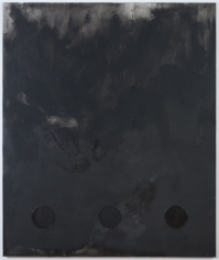 "Brenna Youngblood ""Process Control (Black)"", 2014 Mixed media on canvas 72 x 60 x 1-1/2 inches"