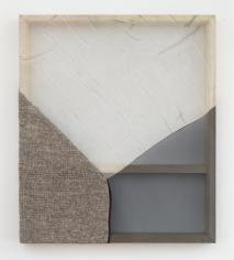 "Martha Tuttle ""Stone (3)"", 2018 Wool, silk, pigment 30 x 25 inches"