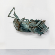 """Kennedy Yanko, """"The Politics of Wholeness"""", February 2021, paint skin, metal, 74 by 106 by 27 inches (188 by 269 by 69 cm). Sculpture made of paint skin and metal by Kennedy Yanko titled """"The Politics of Wholeness"""" created in February 2021."""