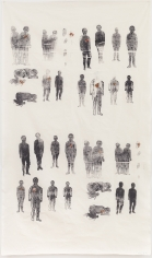 "Kiki Smith ""Lucy's Daughters"", 1990 Silkscreen on cloth 82-1/2 x 46-3/4 inches"