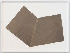 Sol LeWitt  Rip Drawing (R557), October 1975  Tar paper  29 1/2 x 40 1/4 inches