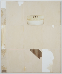 "Brenna Youngblood ""Cellophane Sink"", 2014 Mixed media on canvas in wood frame 73-1/4 x 61-1/4 x 1-5/8 inches"