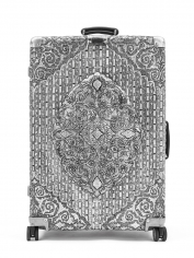 "Wim Delvoye ""Rimowa Classic Flight Multiwheel 971.00.00.4"", 2013 Embossed aluminum 29-1/4 x 20-1/2 x 10-1/4 inches"
