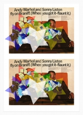 Kelley Walker, Andy Warhol and Sonny Liston fly on Braniff. (When you got it-flaunt it), 2006
