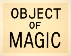 Jonathan Borofsky, Object of Magic, 1989