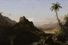 Frederic Edwin Church, In the Tropics, 1856, oil on canvas, 25 1/4 x 36 1/4 inches (64.1 x 92 cm)