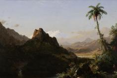 Frederic Edwin Church, In the Tropics, 1856, oil on canvas, 25 1/4 x 36 1/4 inches (64.1 x 92 cm)
